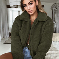 Fashionable Olive Green Bomber Jacket