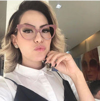 White Pastel Cat Eye Clear Vintage Style Glasses