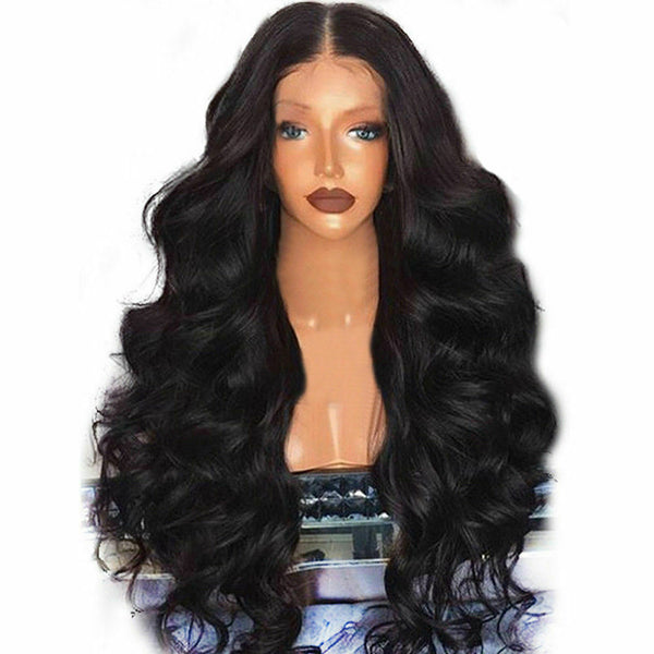 Women Full Wig Brazilian Remy Synthetic Hair Body Wave Wig