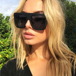 Anabella Black Oversized Square Fashion Style Sunglasses
