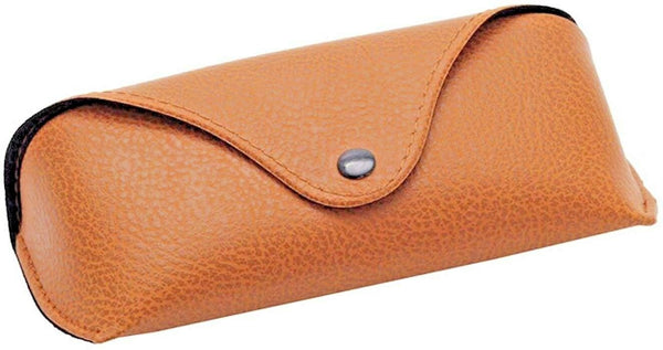 Portable Soft Brown Smooth Leather Eyewear/Frame Glasses Case Holder