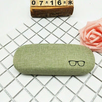 Linen Hard Shell Pink Eyewear/Frame Glasses Case Holder