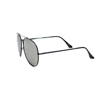 Silver Aviator Oversized Shield Mirror Polarized Sunglasses