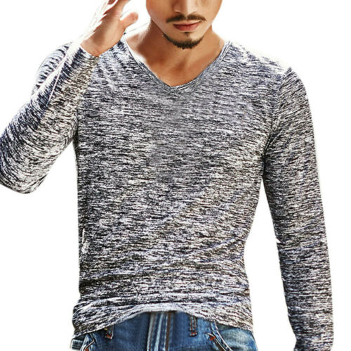 Men's Gray Marley Knit Long Sleeve Top