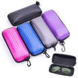 Honeycomb Printed Zippered Purple Eyewear/Frame Glasses Case Holder