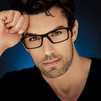 Men's Black Nerd Square Designer Clear Glasses Frames