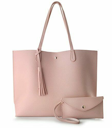 Luxury Pink Faux Leather Fashion Handbag