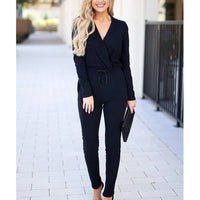 Stella Rosa Black Knit Long Sleeve Jumpsuit