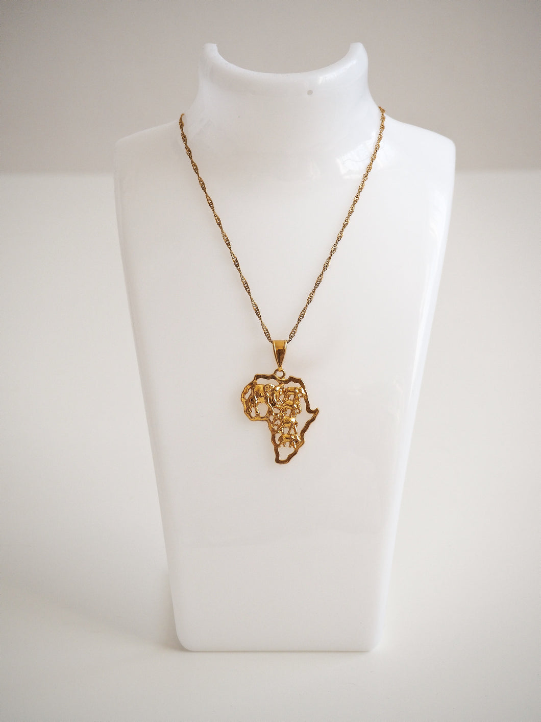 GOLD ELEPHANTS OF AFRICA NECKLACE