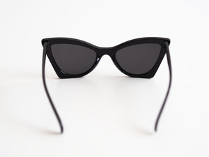 Point Cut Sunglasses - Black
