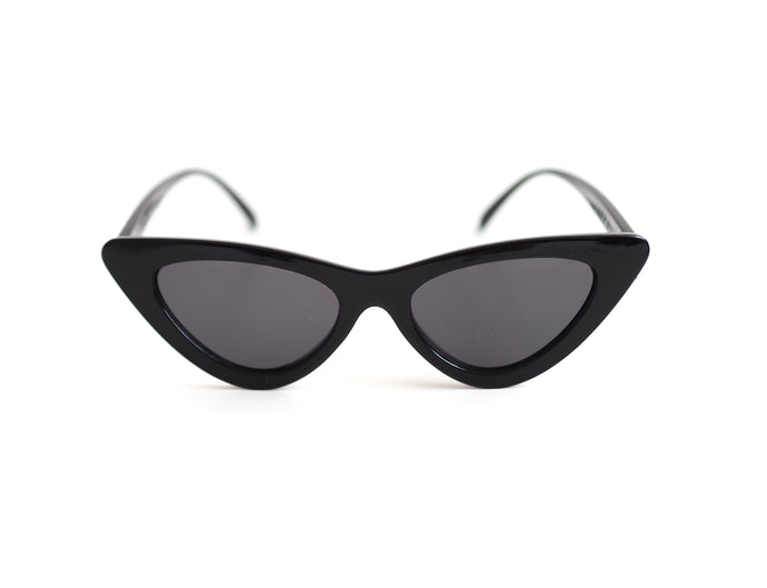 Slimline Cat Eye Sunglasses - Black