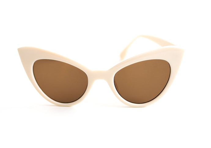 Vintage Cat Eye Sunglasses - Cream