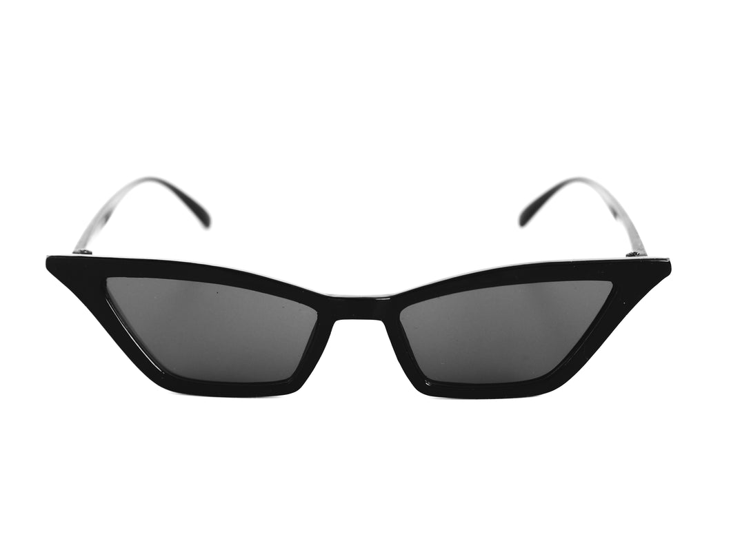 Mini Square Cut Sunglasses - Black