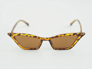 MINI SQUARE CUT SUNGLASSES TORTOISE SHELL BY ZEENA