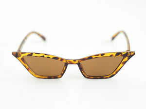 Mini Square Cut Sunglasses - Tortoise Shell