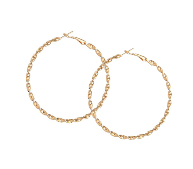 TWISTED HOOP EARRINGS GOLD BY ZEENA