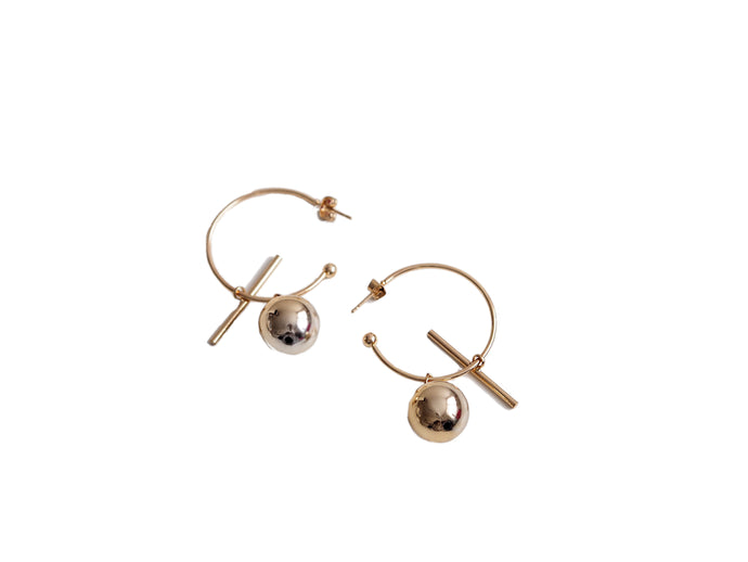 GOLD BUBBLE HOOP EARRINGS