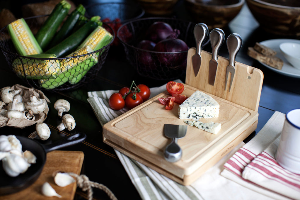 Asiago Cheese Cutting Board & Tools Set