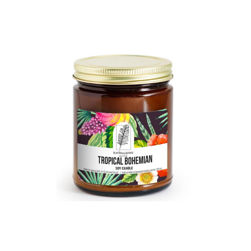 NaturalAnnies TROPICAL BOHEMIAN: Coconut, Brown Sugar, & Fig Scented Soy Candle