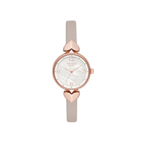 Kate Spade New York Hollis Women's Three-Hand Matte Gray Leather Watch