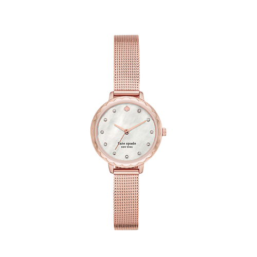 Kate Spade Morningside Mini Rose Gold-Tone Stainless Steel Mesh Women's Watch