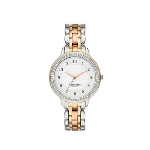 Kate Spade New York Morningside Women's Three-Hand Tri-Tone Stainless Steel Watch