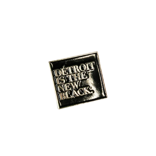 Detroit is the New Black Enamel Pin