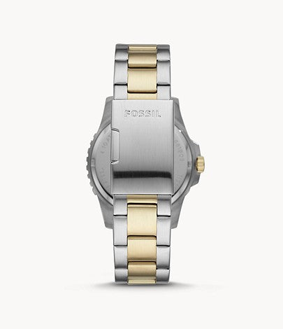 Fossil Men's FB-01 Three-Hand Date Two-Tone Stainless Steel Watch