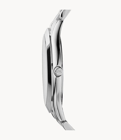 Michael Kors Silver-Tone Runway Slim Watch