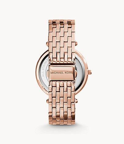 Michael Kors Women's Rose Gold-Tone Glitz Darci Watch