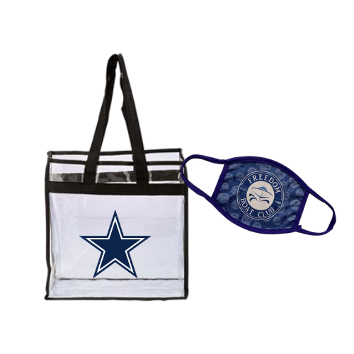 Carry-All Clear Tote & Custom Face Mask Set