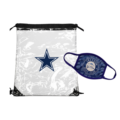Clear Drawstring Bag & Custom Face Mask Set