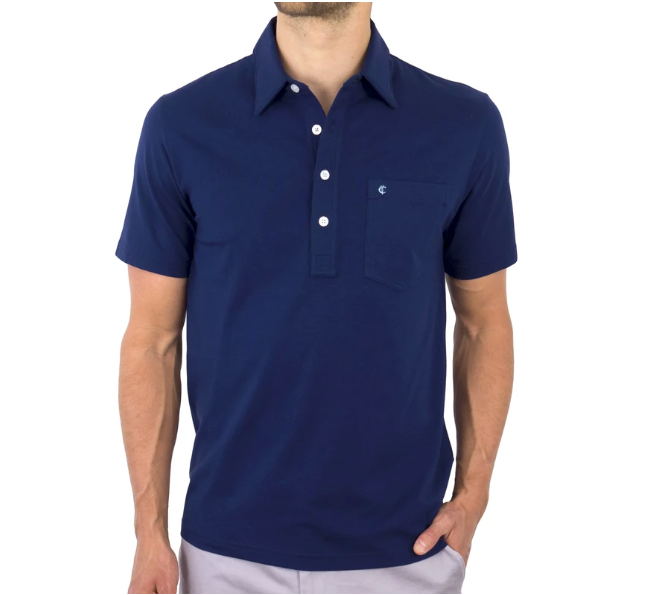 Criquet Top-Shelf Players Shirt in Navy Blue