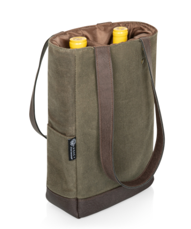 2-Bottle Insulated Wine Cooler Bag