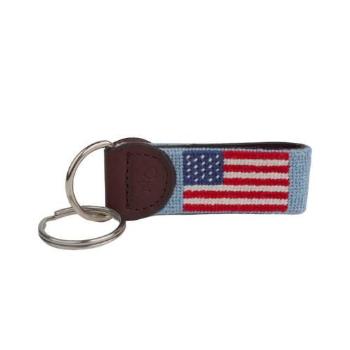 Needle Golf USA Light Blue Key Fob