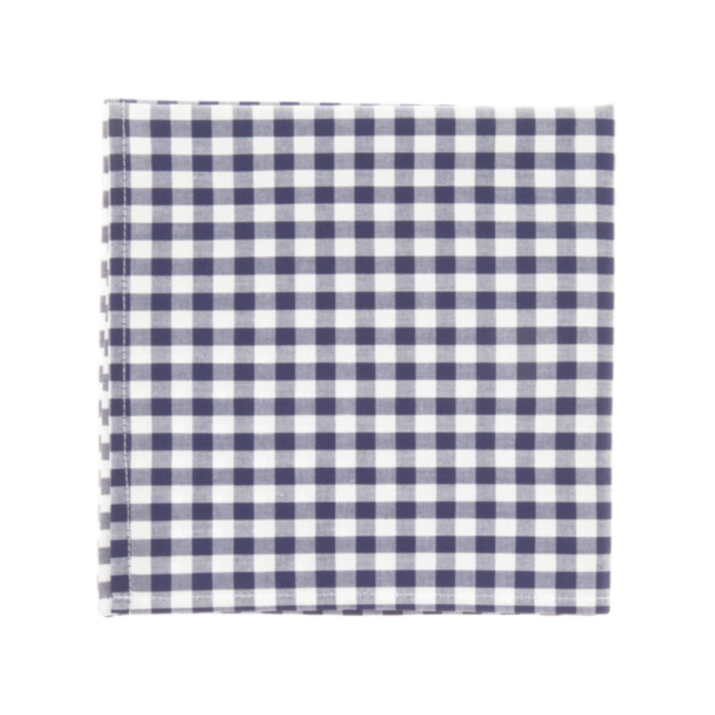 Alton Lane Navy and White Check Pocket Square