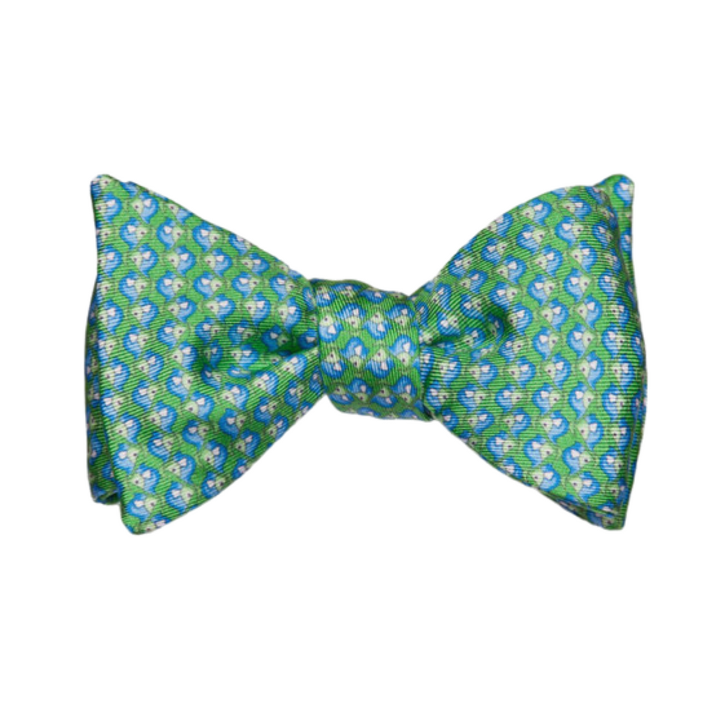 Alton Lane Green with Light Blue Angelfish Bowtie