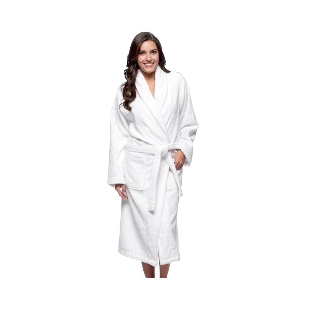 White Shaw Collar Robe