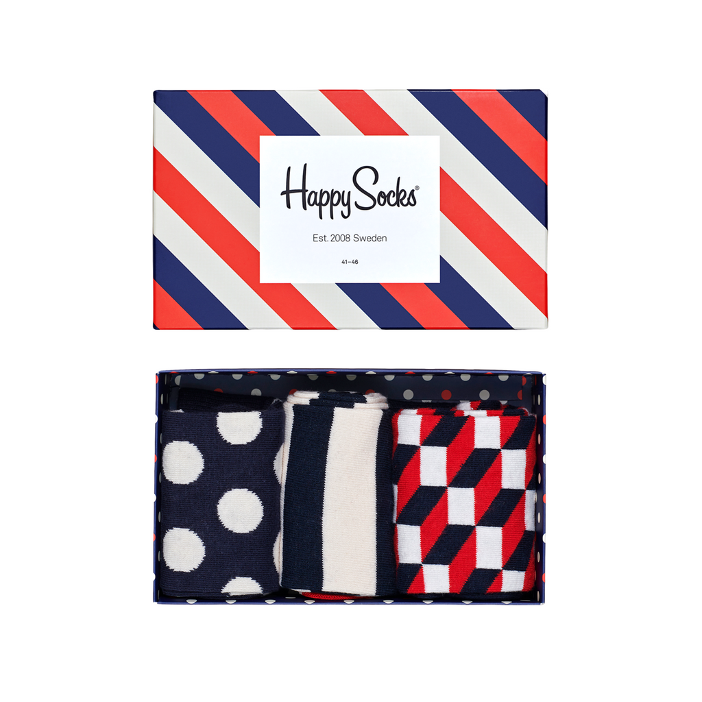 "Happy Socks ""Stripe"" Gift Box 3-Pack"