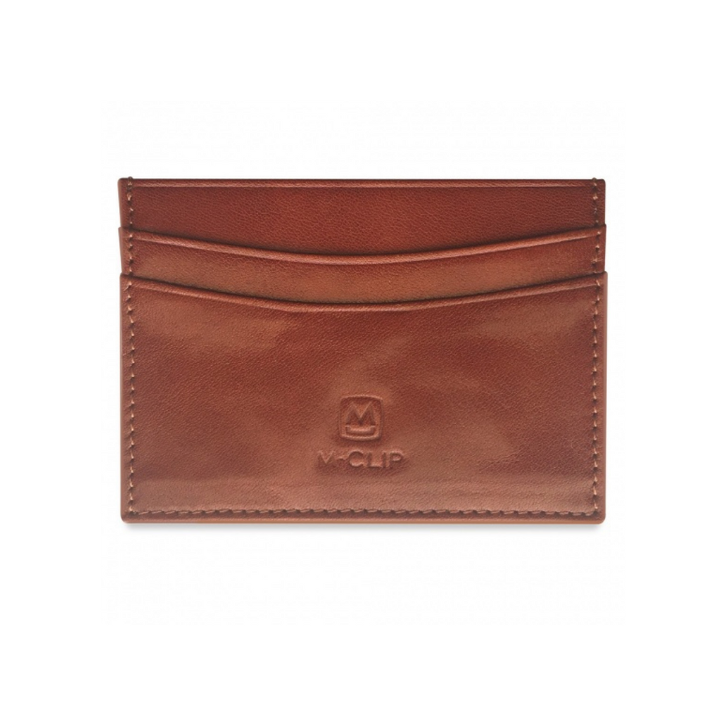 M-Clip Brown Horizontal Leather RFID Case