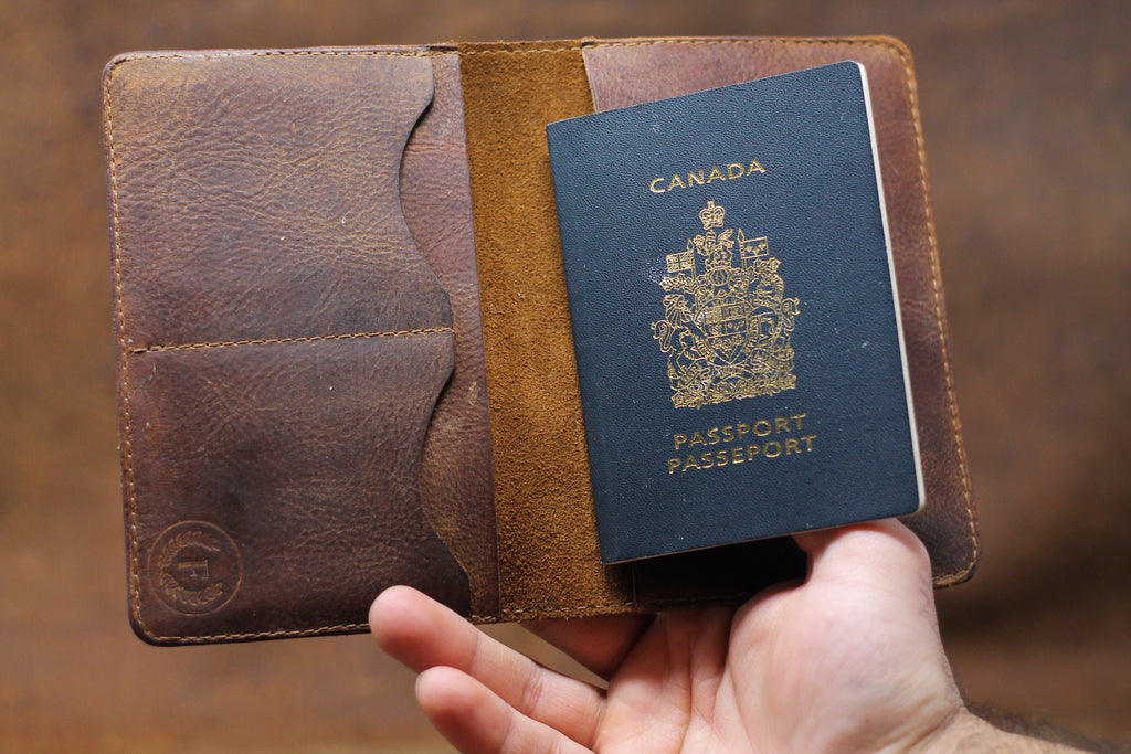 Passport Wallet - Natural Brown