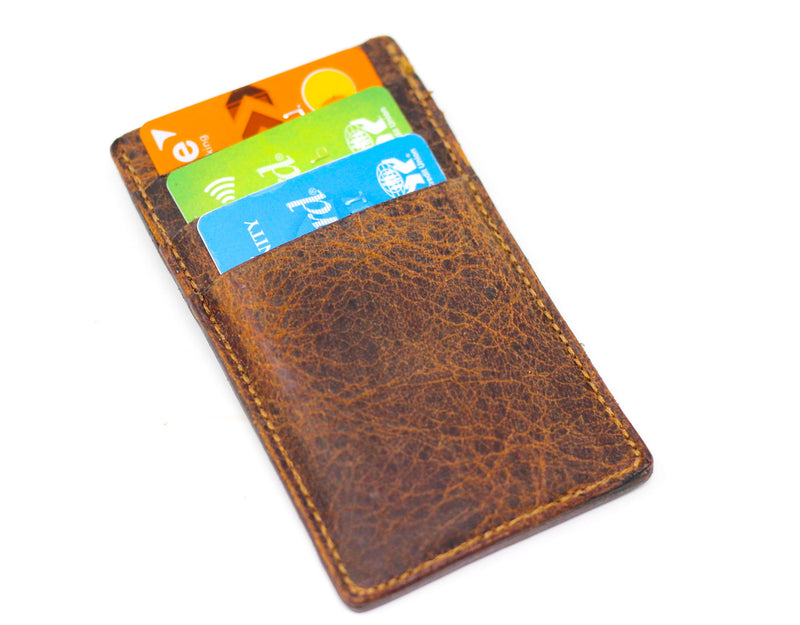Money Clip Wallet - Natural Brown
