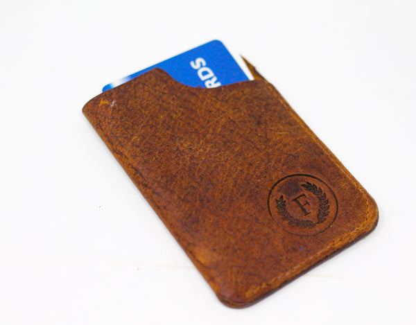 Card Holder - Natural Brown