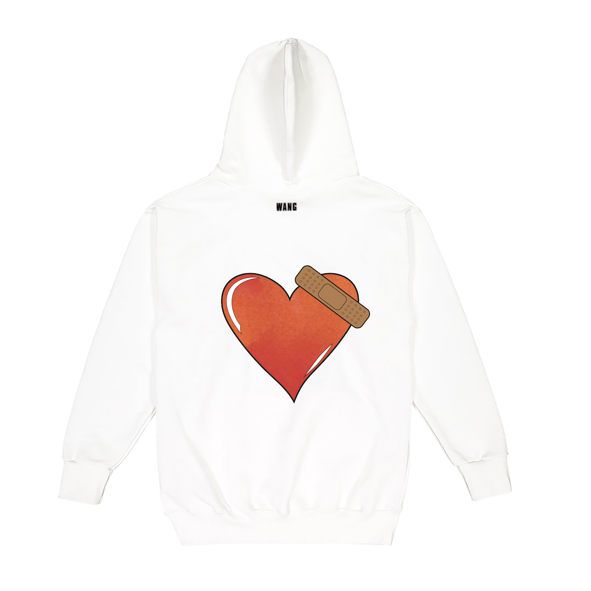 BULLET TO THE HEART White Hoodie