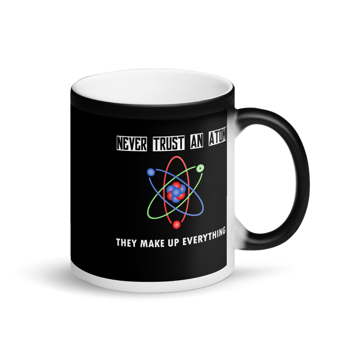 Atomic Humor Matte Black Magic Mug