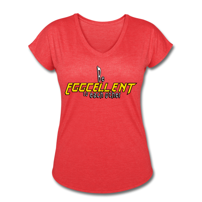 Be Eggcellent style 2 - heather red
