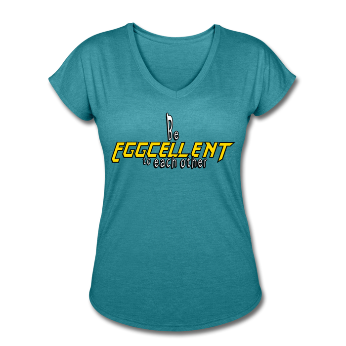 Be Eggcellent style 2 - heather turquoise