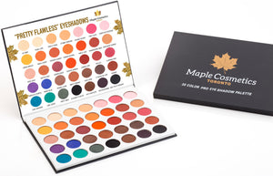 "Maple Cosmetics Toronto ""Pretty Flawless"" 35 Colors Pro Eyeshadow Palette High Pigmentation Makeup"