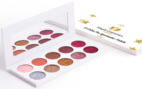 "Maple Cosmetics Toronto ""Flawless Sparkle"" 10 Colors Pro Eyeshadow Palette Makeup"