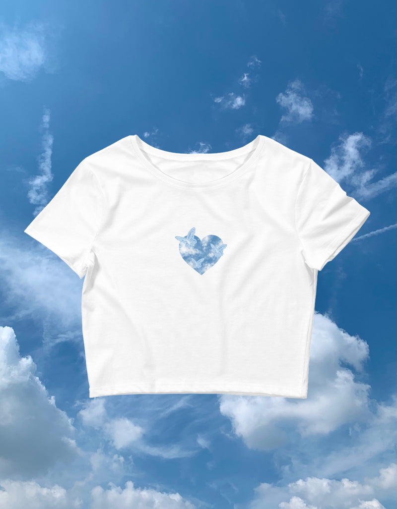 Heart Flutter Crop Tee